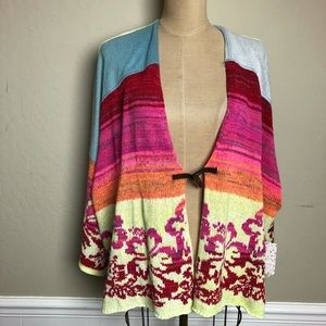 """Free People """"SURF"""" French terry cardigan"""